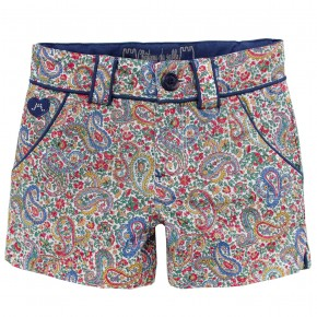 Shorts in Paisley Fabric