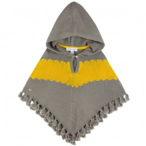 Poncho with hoodie