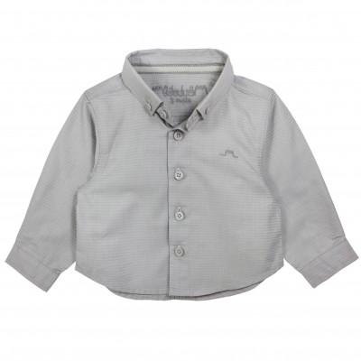 Shirt in zig zag fabric