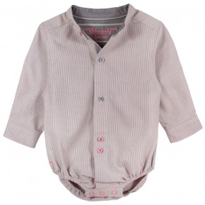Romper with mao collar