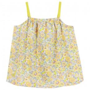 Girls Yellow Floral Liberty Sphaghetti top