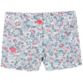 Girls Blue Floral liberty shorts