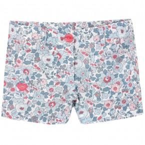 Girls Blue Floral liberty shorts