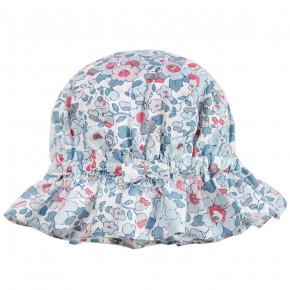 Floral blue liberty hat