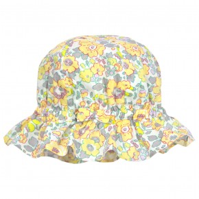 Floral yellow liberty hat