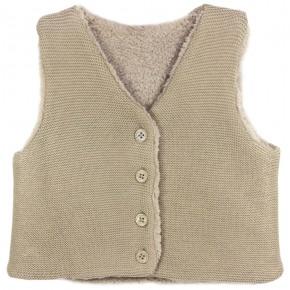Girls Beige Vest