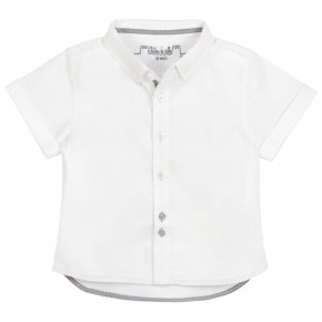Boys short sleeves white shirt