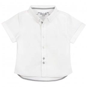 Boys short sleeves white shirt