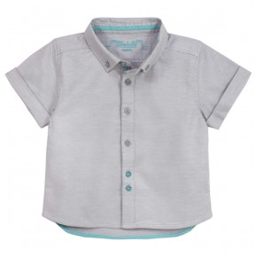 Boys short sleeves grey shirt