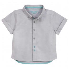 Boys short sleeves grey shirt
