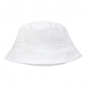 Boys Sun Hat in White Linen
