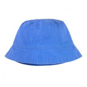 Boys Sun Hat in Blue Linen