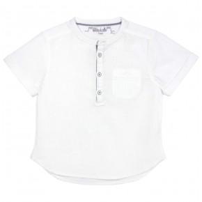 Chemise garçon col Mao blanche