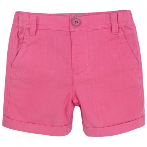 Boys fuchsia shorts with folded cuffs
