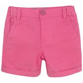 Boys fuchsia shorts with folded cuffs