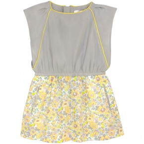 Yellow Liberty Dress with frills