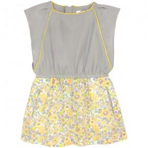 Yellow Liberty Dress with frills