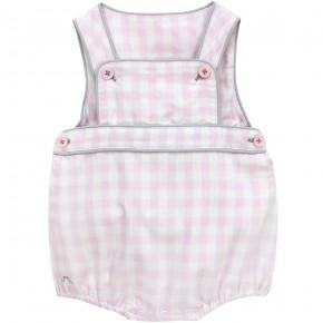 Girl Overall with Pink Checks