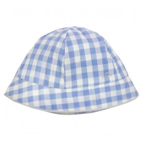 Baby Hat with Blue Checks