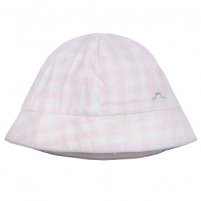 Baby Hat with Pink Checks