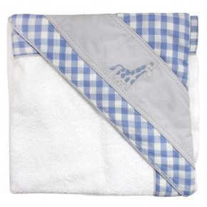 Baby Towel with Blue Checks
