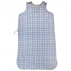 Baby Sleeping Bag with Blue Checks