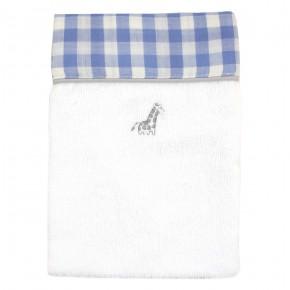 Bath Mitten with Blue Checks