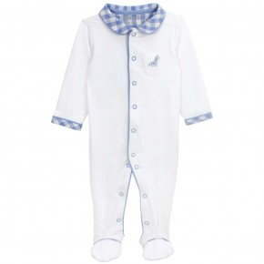 Baby Pyjamas with Blue Checks