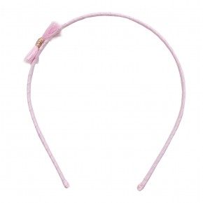 Girl Hair Band with Pink Fray