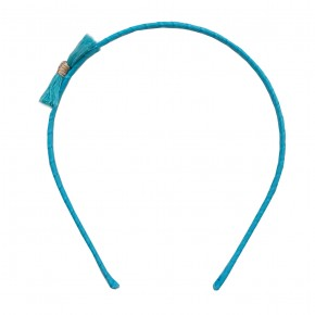 Girl Hair Band with Turquoise Fray