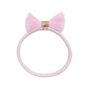 Girl Hair Elastic with Pink Fray
