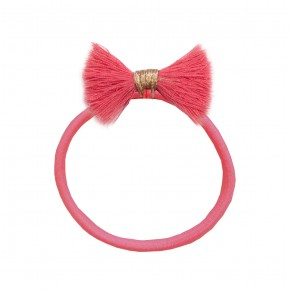 Girl Hair Elastic with Coral Fray