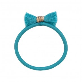 Girl Hair Elastic with Turquoise Fray
