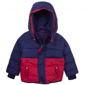 Boy Navy Downcoat with removable hood