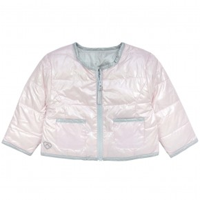 Girl Reversible Down Jacket in Pink