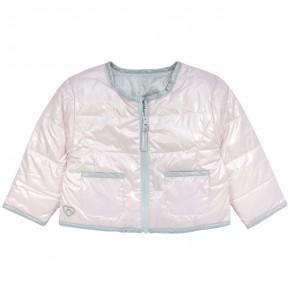 Girl Reversible Down Jacket in Pink