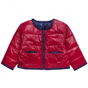 Girl Reversible Down Jacket in Red