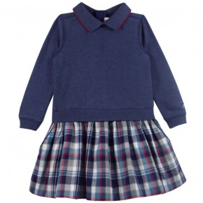 Girl Dress with Navy Checks