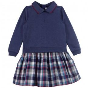 Girl Dress with Navy Checks