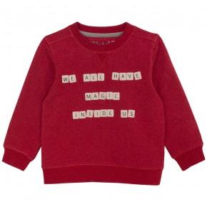 Sweat unisexe imprimé Scrabble rouge