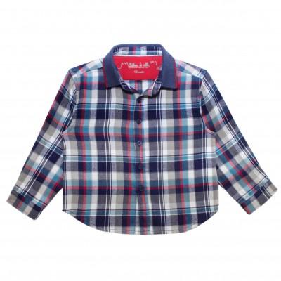 Boy Shirt with Blue Checks