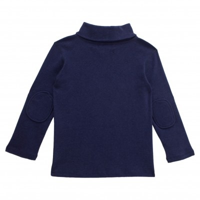 Boy Turtle Neck Top in Navy