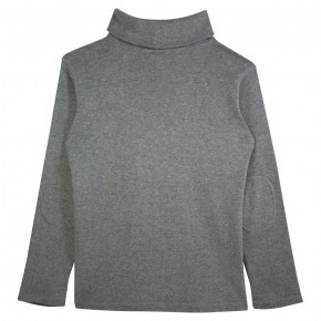 Boy Turtle Neck Top in Grey
