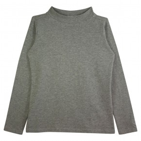 Girl Turtle Neck Top in Grey
