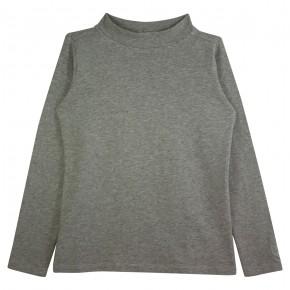 Girl Turtle Neck Top in Grey