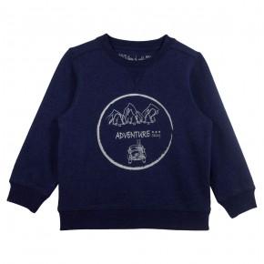 "Boy Sweater ""Adventure"" Print in Navy"