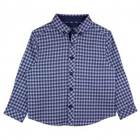 Chemise à carreaux bleu marine