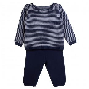 Baby Boy Set in Navy Knit