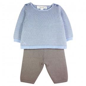 Baby Boy Set in Blue Knit