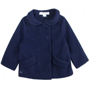Navy Fleece Coat